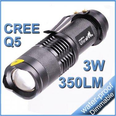 Mini Flashlight Cree Q5 LED 7W 350 Lumens Lantern Light