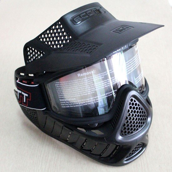 Paintball Tactical Military Full Face Mask Neck Guard Goggles Airsoft Dirt Bike Helmet Visor
