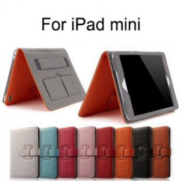 Premium Grade iPad Mini Case Cover Stand Wrist Strap Wake Up Function