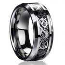 Tungsten Dragon Ring Wedding Band Engagment Ring Jewellery