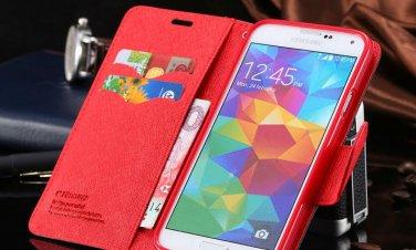 Galaxy S5 Texture Flip Case Cover Wallet Skin
