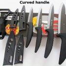 5pc Ceramic Knife Set Kitchen Chef Knives Peeler Sheaths