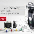 5 Razor Blade Heads Rechargeable Shaver 4in1 Timmer, Toothbrush, Clipper