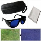 Pro Golf Ball Finder Glasses Lenses + Eyeglass Carrying Case