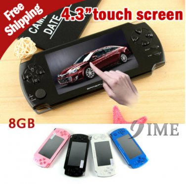 """4.3"""" Handheld Touch Screen Game Player 8GB 1000 Games Installed Support 3D & Flash Games"""