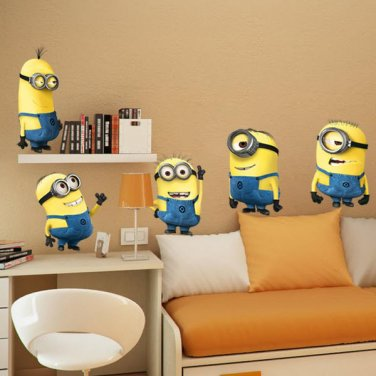 Despicable Me 2 Minions Wall Stickers Vinyl Art Decals Kids