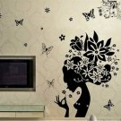 Butterfly Princess Decal Flower Fairy Girl Removable PVC Wall Sticker Home Decor