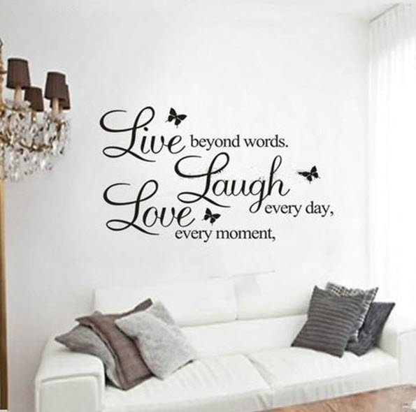 Inspirational Quote Decal Love Laugh Live Wall Art Sticker Decor