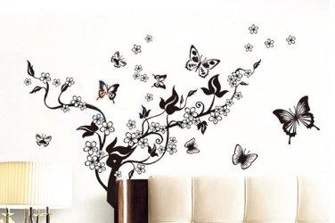 Blossoming Butterfly Decal Wall Sticker Vinyl Art Girls Decor