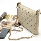Vintage Rivet Chain Womens Girls Purse Clutch Hand Bag