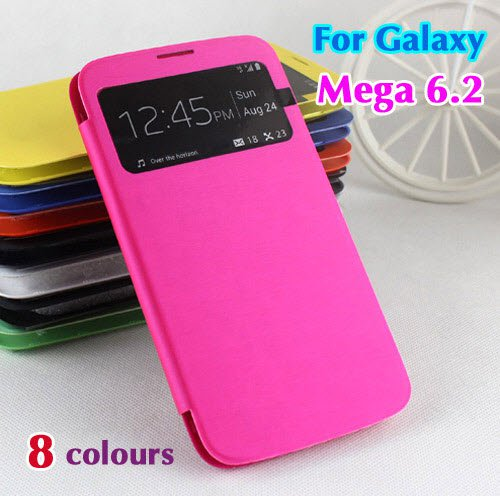 Galaxy Mega i9200 S View Flip Case Housing Phone Cover