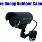 Outdoor Dummy Fake Decoy CCTV IR Wireless Security Camera Flashing Red Light