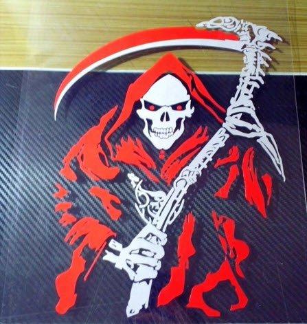 Snowboard Skateboard Decal Car Motorcycle Bike Sticker Reaper Devil Death Scythe