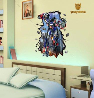 Transformers 3D Vinyl Decal Childrens Decor Wall Sticker Poster