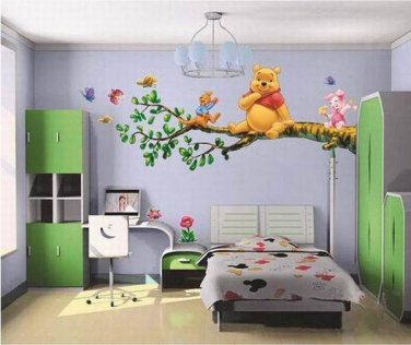 Childrens Kids Decal Decor Baby Room Wall Sticker Poster Pooh Bear Piglet