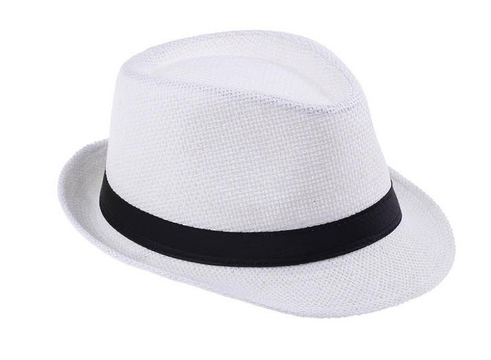 Womens Mens Unisex Fedora Trilby Gangster Cap Straw Panama Hat