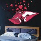 Big Kiss Lips Love Heart Vinyl Wall Decal Decor Sticker Poster