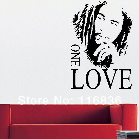 Bob Marley ONE LOVE Decal Decor Wall Sticker Poster