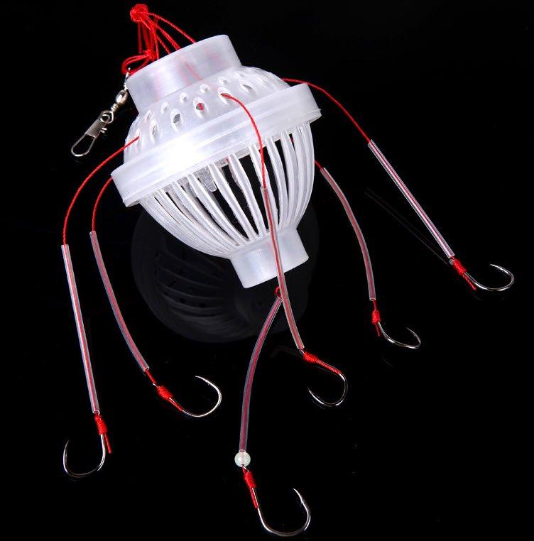 Fishing Tackle Octa Hook Lure 6 Hooks Bait Basket