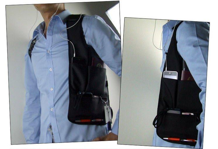 Shoulder Holster Satchel Bag Pouch Anti-theft Hidden Fanny Pack
