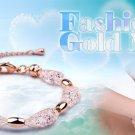10pc Lot 18K Rose Gold Plated Austrian Crystal Bracelet Mesh Jewellery Chain