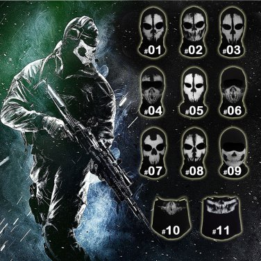 60c76531fea Call of Duty COD Ghost Face Mask Tactical Winter Hat Beanie