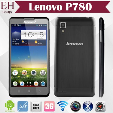 Lenovo P780 Quad Core Smart Phone Cell 5 inch HD Gorilla Glass