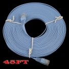 45FT Ethernet Cat 6 Flat Cable Internet Wire Router 15M LAN Cord