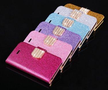 iPhone 5C Glittering Bling Phone Case Card Holder