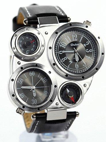Aviator Bomber Mens Wristwatch Military Analog Quartz Watch