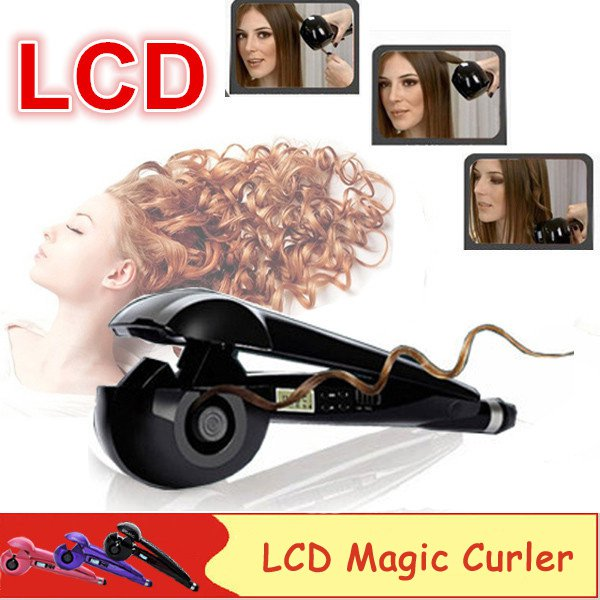 Super Auto Hair Curler Ceramic Hair Iron LCD Screen