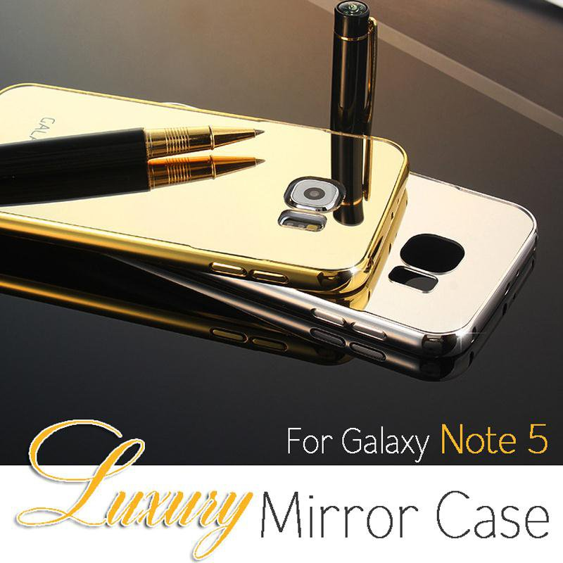 Galaxy Note 5 Aluminum Bling Mirror Case Cover Protector Bumper Skin