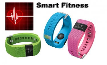 Smart Fitness Wristband Bluetooth 4.0 Watch Heart Rate Pedometer