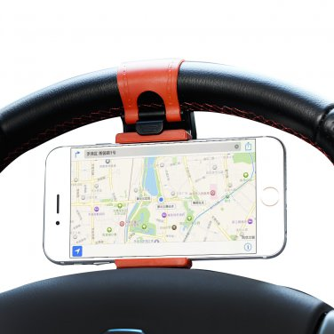 iPhone 6 5 4 Car Cell Phone Steering Wheel Holder Galaxy S4 S5 s6 Case