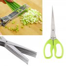 5 Blade Kitchen Scissor Dicer Hand Slicer Shredder Chopper