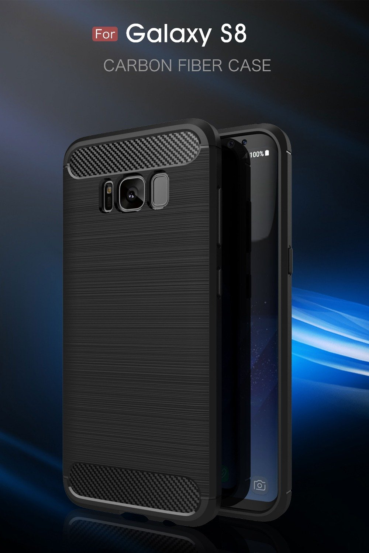 Samsung Galaxy S8 Plus Case Carbon Fiber Soft TPU Anti-Skid Cover