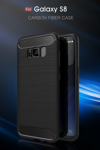 Samsung Galaxy S8 Plus Case Carbon Fiber Soft TPU Anti-Skid Cover