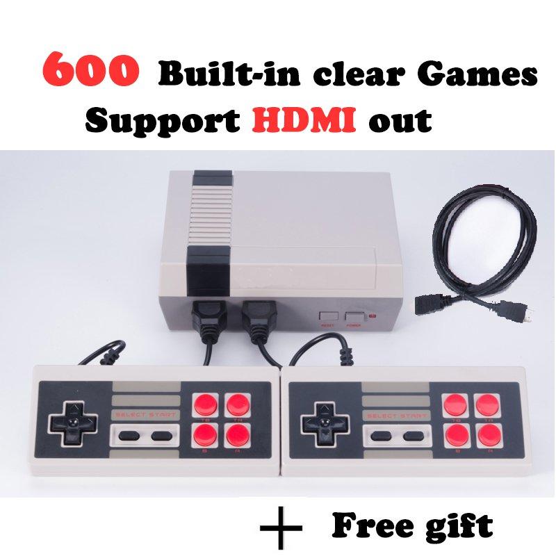 Mini Retro Game Console 600 Nintendo Games Built in! HDMI Output Super Mario Bros Contra