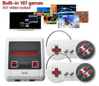 Retro Game Console 167 SNES 16 Bit Games Built In! AV Out Street Fighter 2 Tekken 3 Sonic