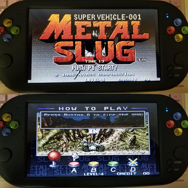 "7"" Handheld Retro Video Game SNES Sega Neo Geo 16 Bits 32 Bits 1500 Free Games!"