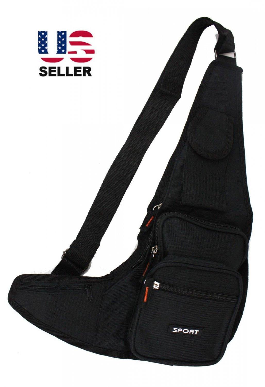 Sling Shoulder Bag Chest Crossbody Backpack Fanny Pack Travel Tactical Bag