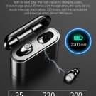 Bluetooth Earbuds Wireless Earphones Headset 2200mAh Phone Power Bank Charger