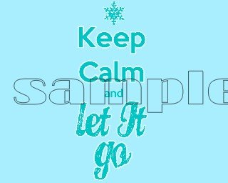 Frozen Keep Calm & Let it Go Child's Small T-shirt