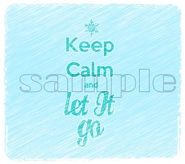 Frozen Keep Calm & Let It Go Faded Child's Small T-Shirt
