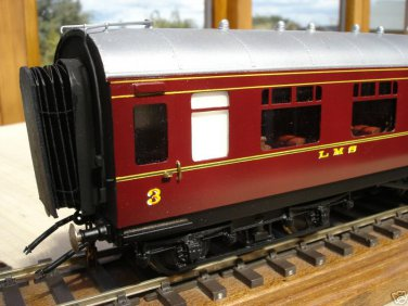 Finescale GWR or BR O Gauge Coach Ends Ready Made Pack of 2 for 1 carriage Model Railway