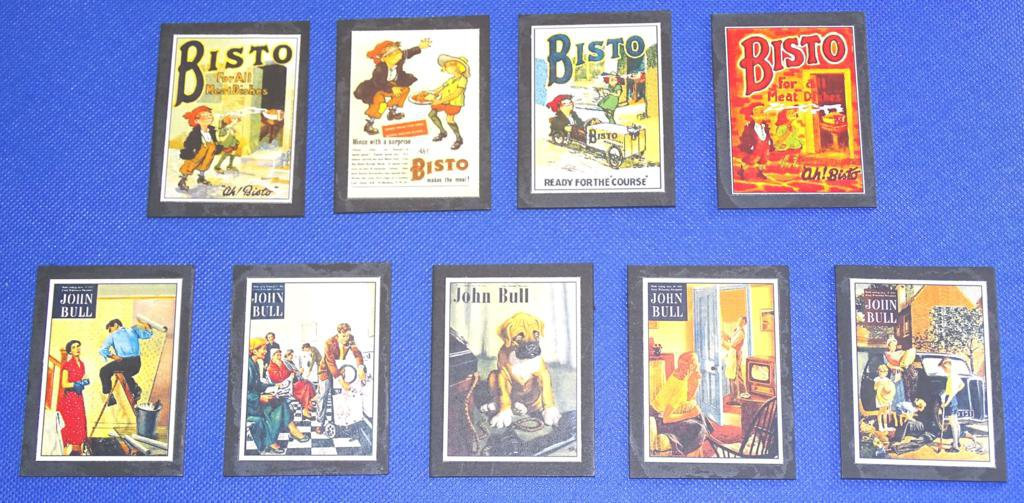 Bisto Guinness John Bull Railway Wallboards O Gauge Advertising Signs Set of 17 #2045