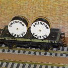 Swindon Cable Drums OO Gauge Set of 4 + FREE Bolted Pack Wagon Loads #2041