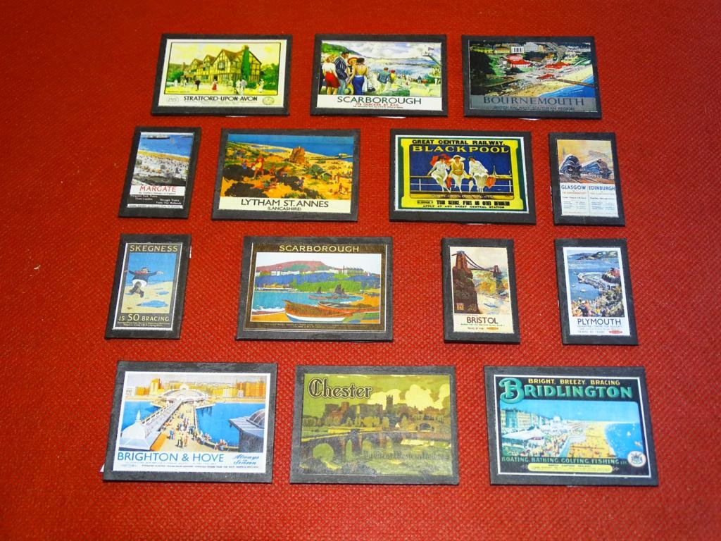 Destinations Wallboards OO Gauge Advertising Signs Set of 14 Railway Hobby #2050
