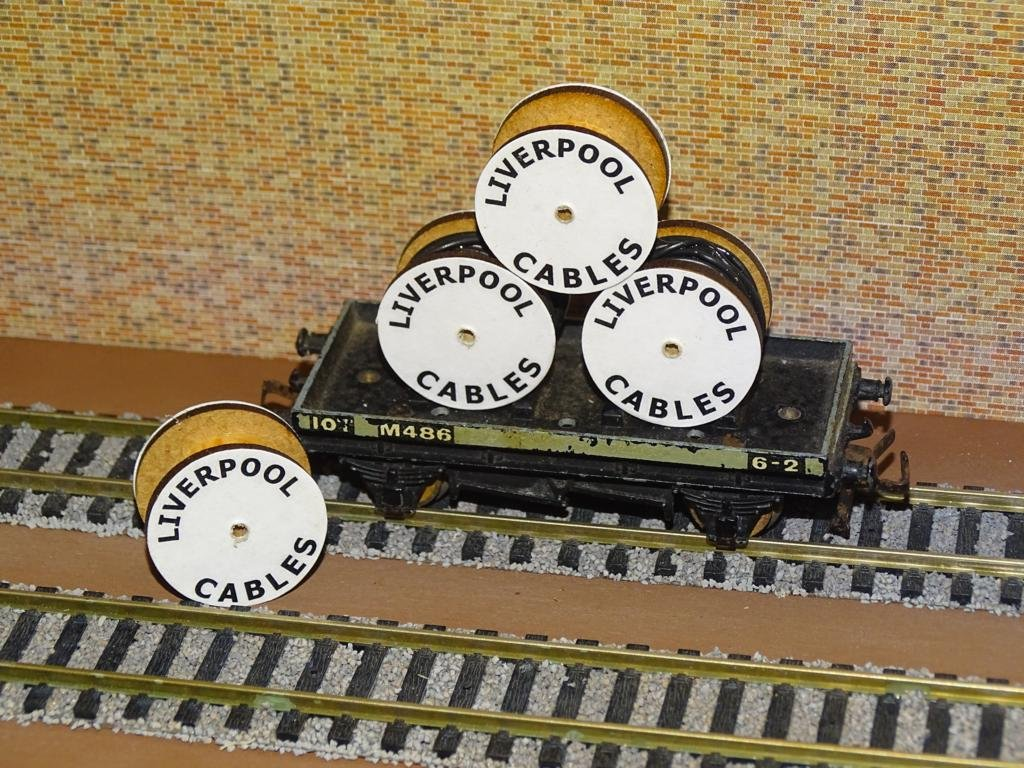 Liverpool Cable Drums OO Gauge Set of 4 + FREE Bolted Pack Wagon Loads #2037