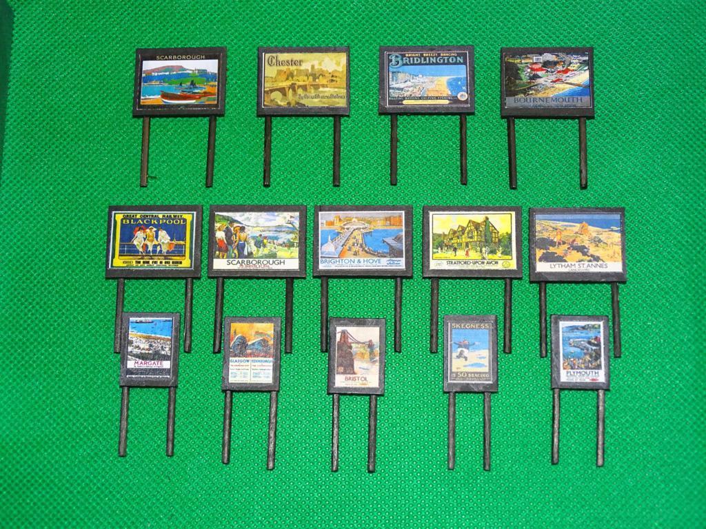Destinations Billboards N Gauge Advertising Signs Set of 14 Railway Hobby #2052